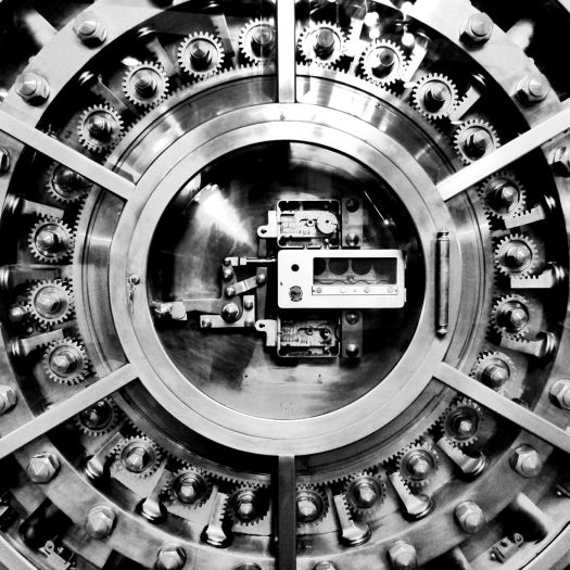 bank vault door gears