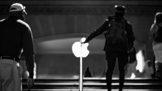 Apple handrail BW