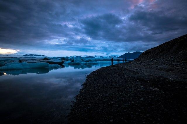 Iceland post glacial lagoon
