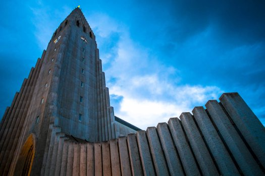 Iceland post white church